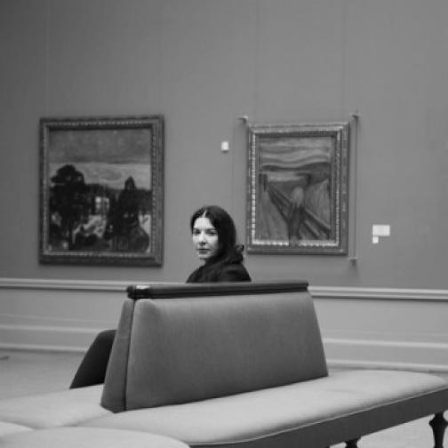 Marina Abramovic at the Norwegian National Gallery