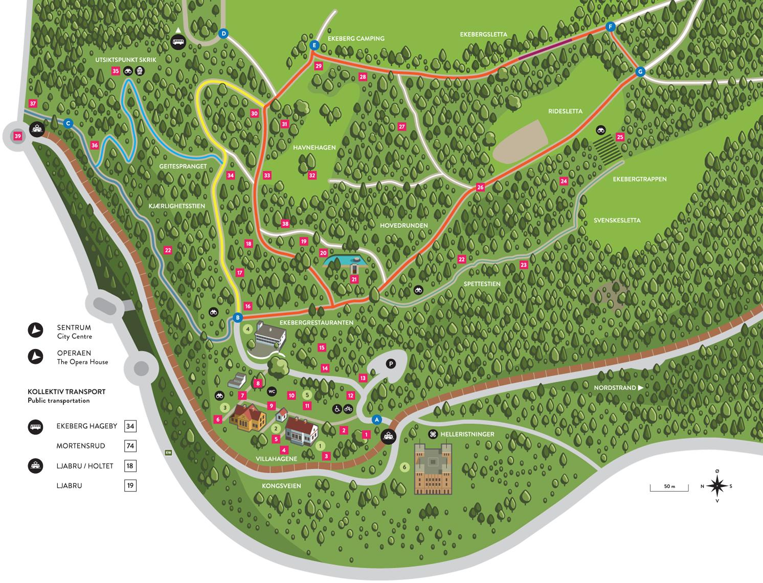 kart over ekebergsletta Kart | Ekebergparken kart over ekebergsletta