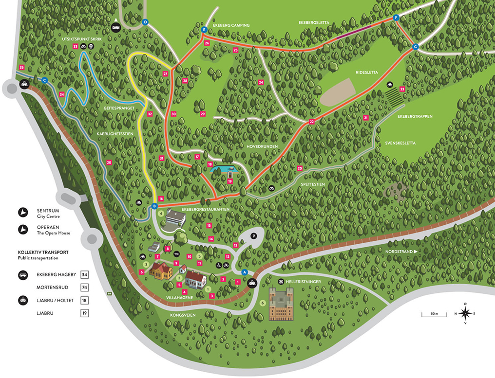 kart over ekebergsletta OptimistGammeln: Stolpejakten Nordstrand   en flott tirsdagskveldstur kart over ekebergsletta